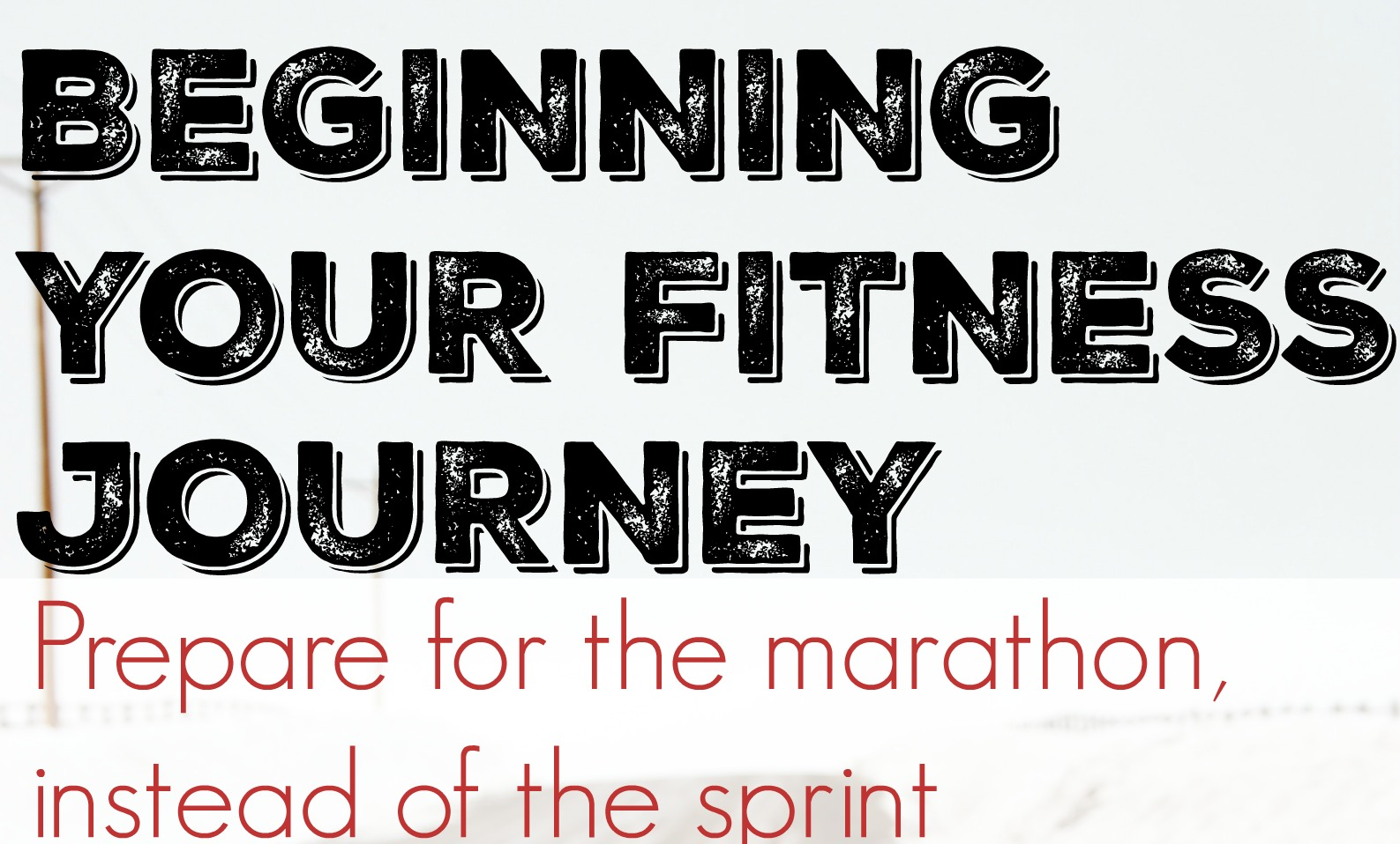 Beginning your fitness journey banner