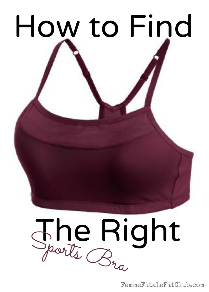 how to find the right size sports bra