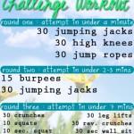 FFFC #Challenge #19:  Challenge Workout