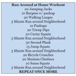 Run Around #Workout