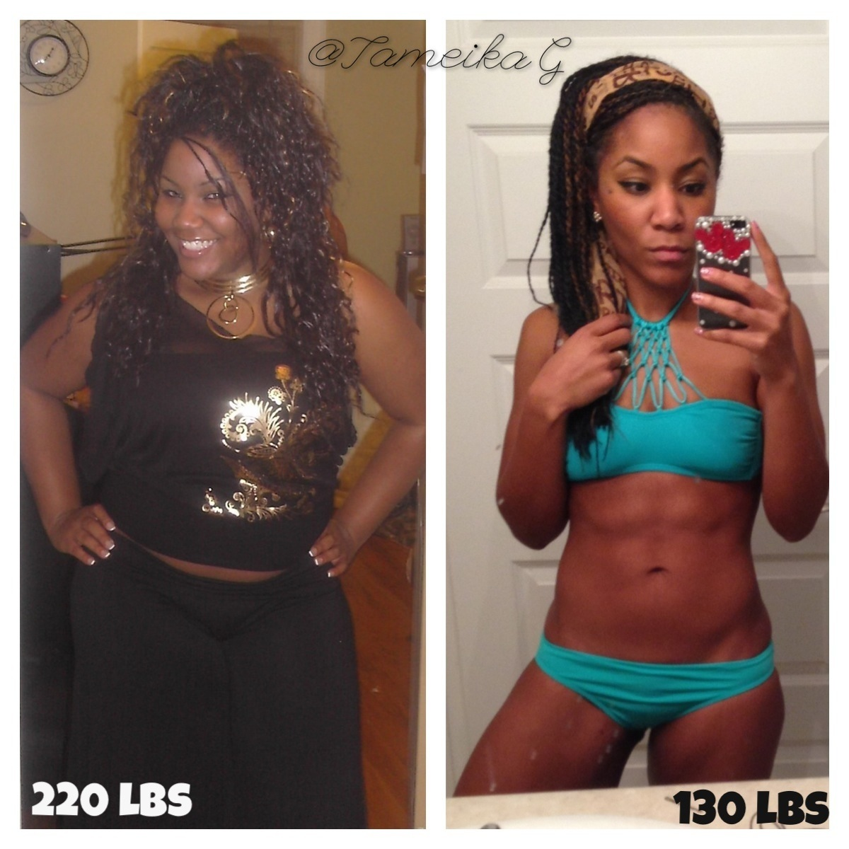 Tameika Gentles TameikaG #weightloss #beforeandafter