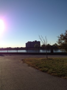Beautiful Druid Hill Park as the sun comes up.