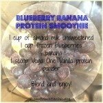 Blueberry Banana Protein Smoothie Recipe