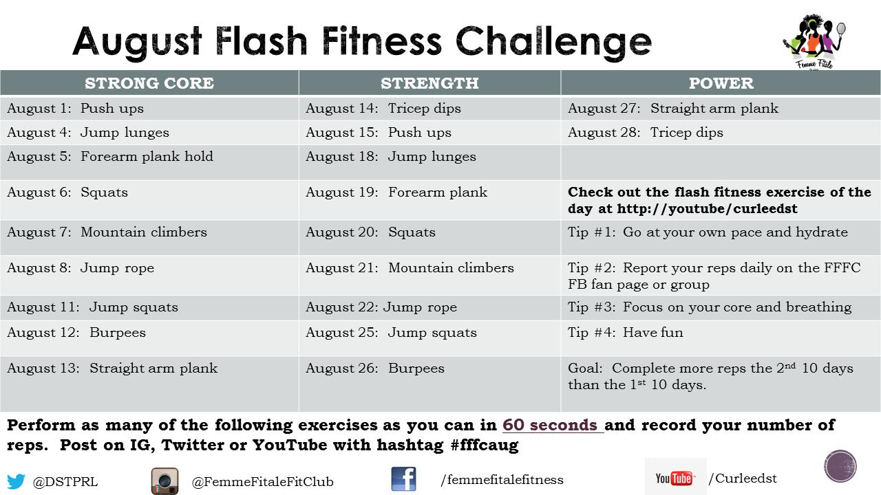 FFFC August Flash Fitness Challenge 2014