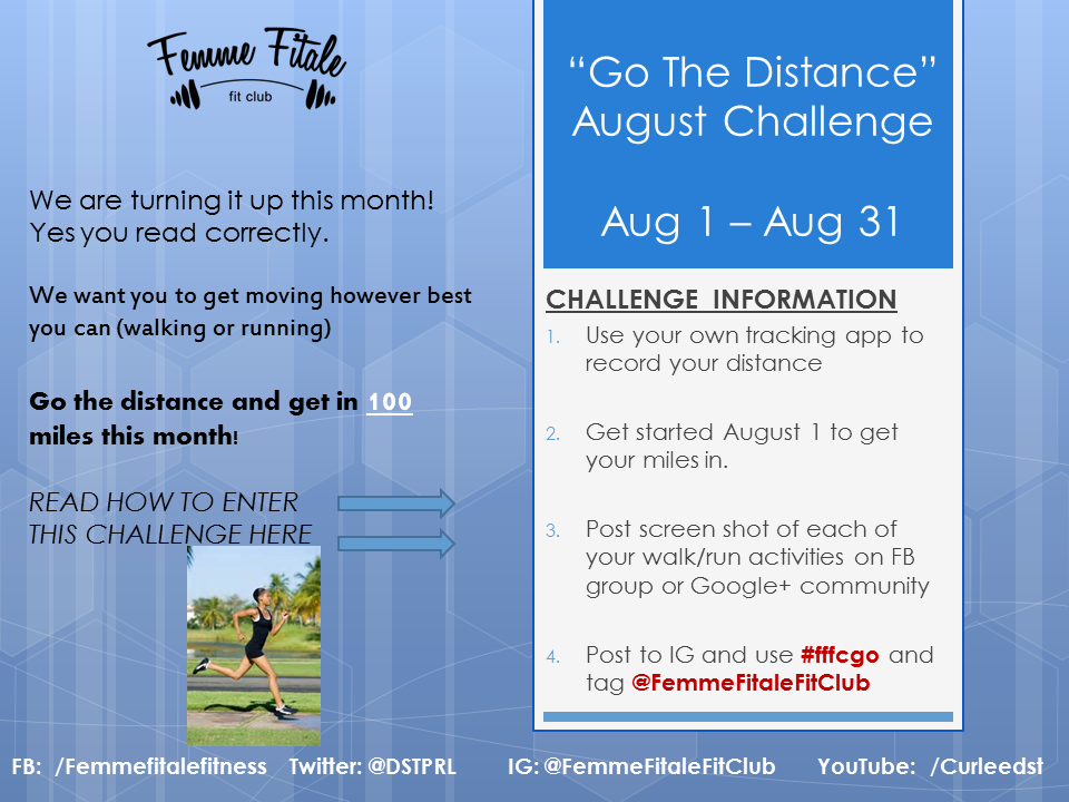 Go The Distance August Challenge 2014