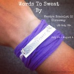 Words to Sweat By + Giveaway (CLOSED)