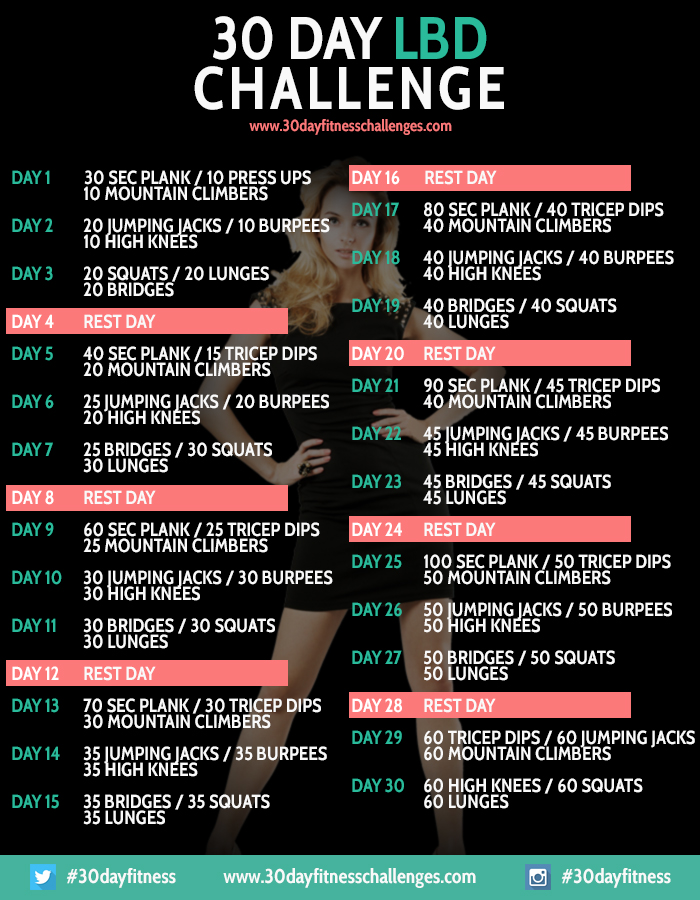 30 day shred calendar
