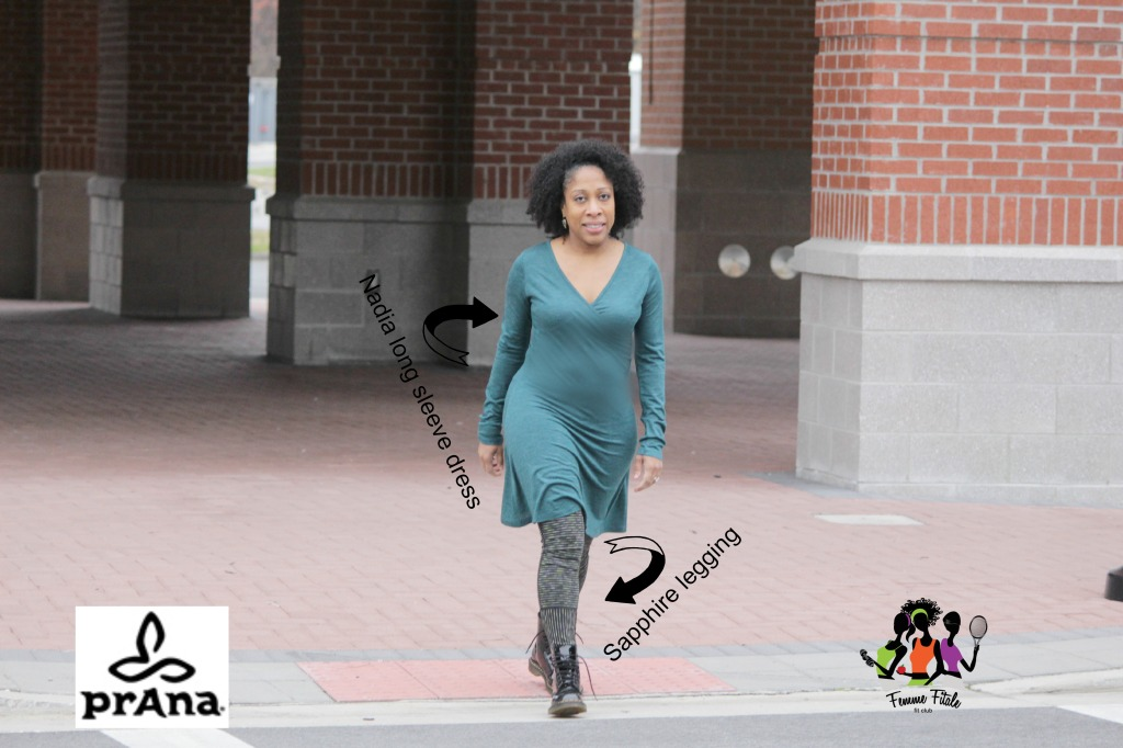 Nadia Long Sleeve Dress by prAna Early Winter Collection Catalog #earlywintercollection #holidayshopping #prAna @fitapproach #sweatpink