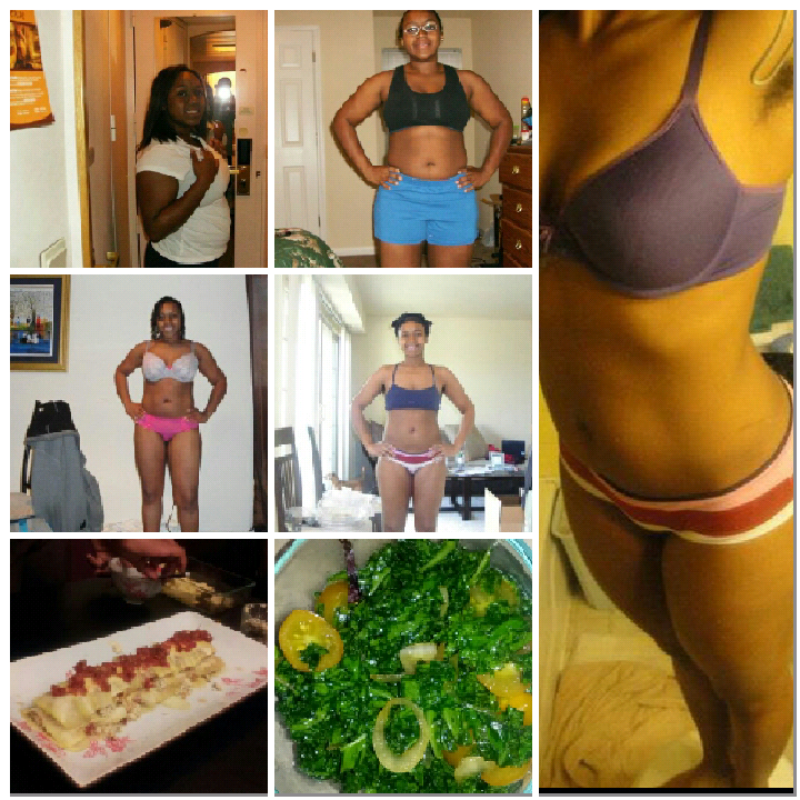 Nakia Porter of Nakia's Peace of Life weight loss collage