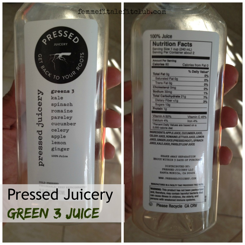 Greens 3 Juice Pressed Juicery #pressedjuicery #juice