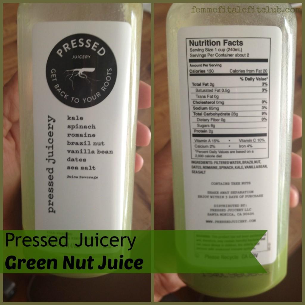 Pressed Juicery Green Nut #pressedjuicery