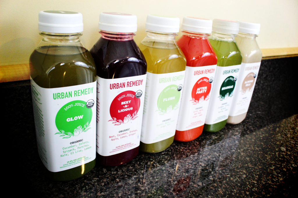 Urban Remedy Juices from the left