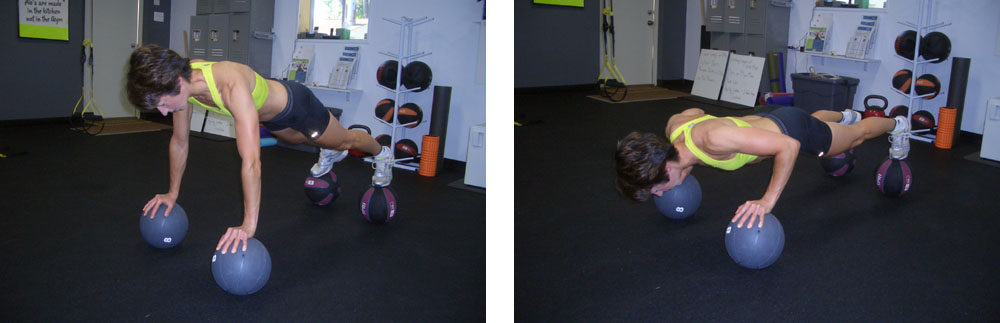 In The Gym Medicine ball push up #exercise #fitness #workout #inthegym