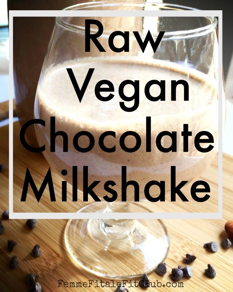Raw Vegan Chocolate Milkshake up close
