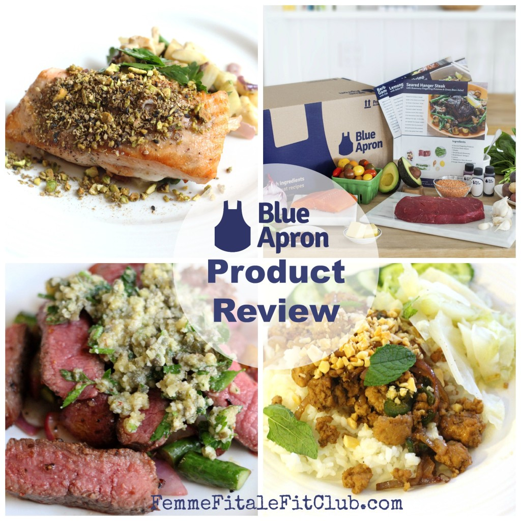 Blue apron for singles