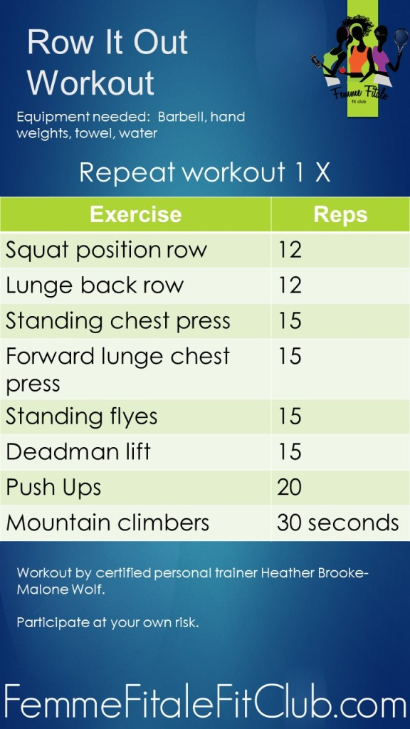 Row It Out Workout