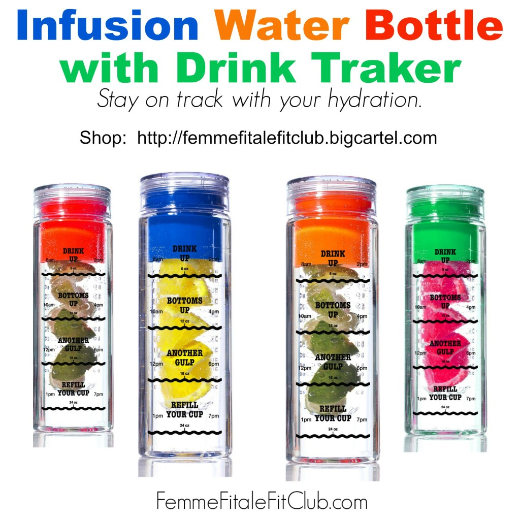 Stay on track with your hydration - Infusion Water Bottle with Drink Tracker