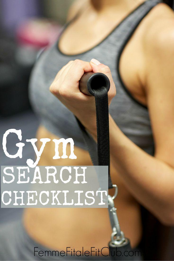 Gym Search Checklist II