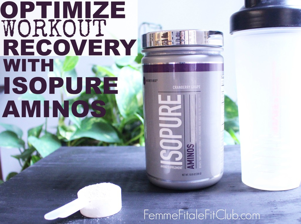 Optimize Recovery with Isopure Aminos