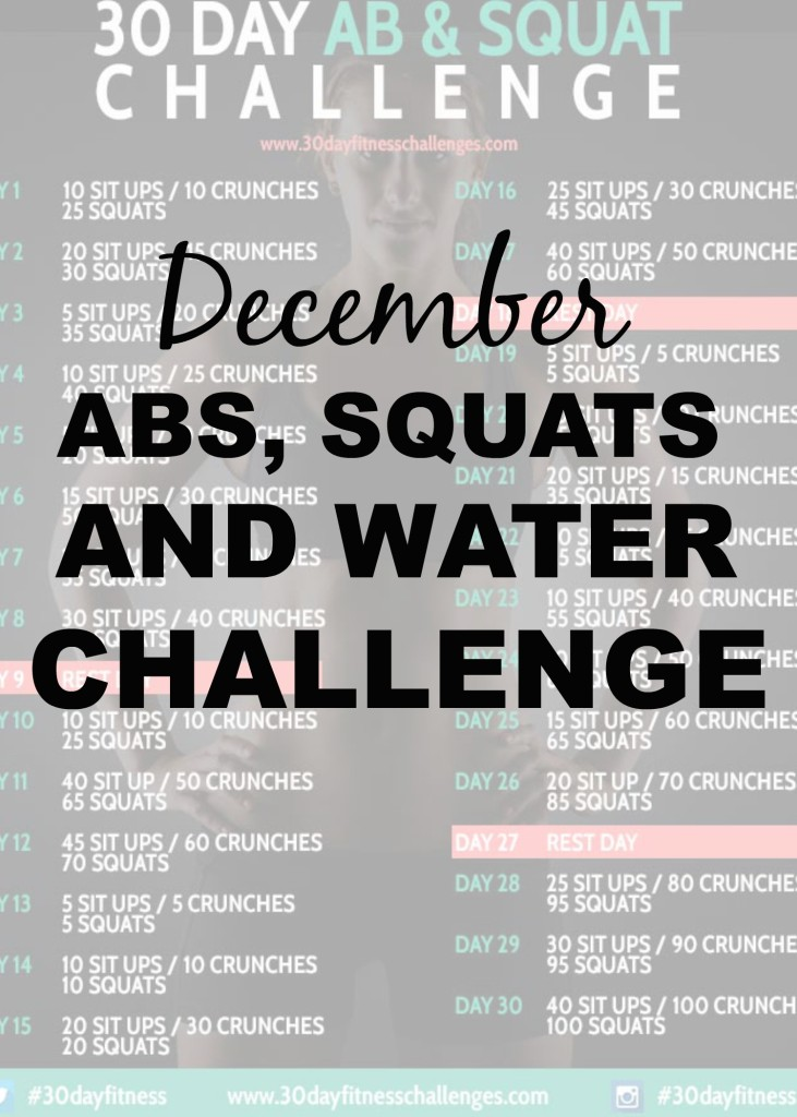 30 Day Ab Squat and Water Challenge