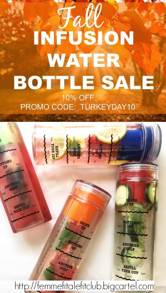 TurkeyDay10 Sale Infusion Water Bottle #detoxwaterbottle