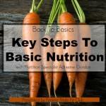 Back To Basics:  Key Steps To Basic Nutrition Webinar