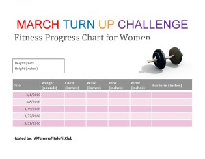 March TURN UP Challenge Fitness Progress Chart For Women2-page-001