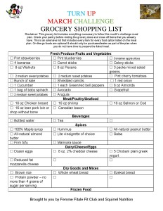 Turn Up March Challeng Grocery Shopping List-page-001