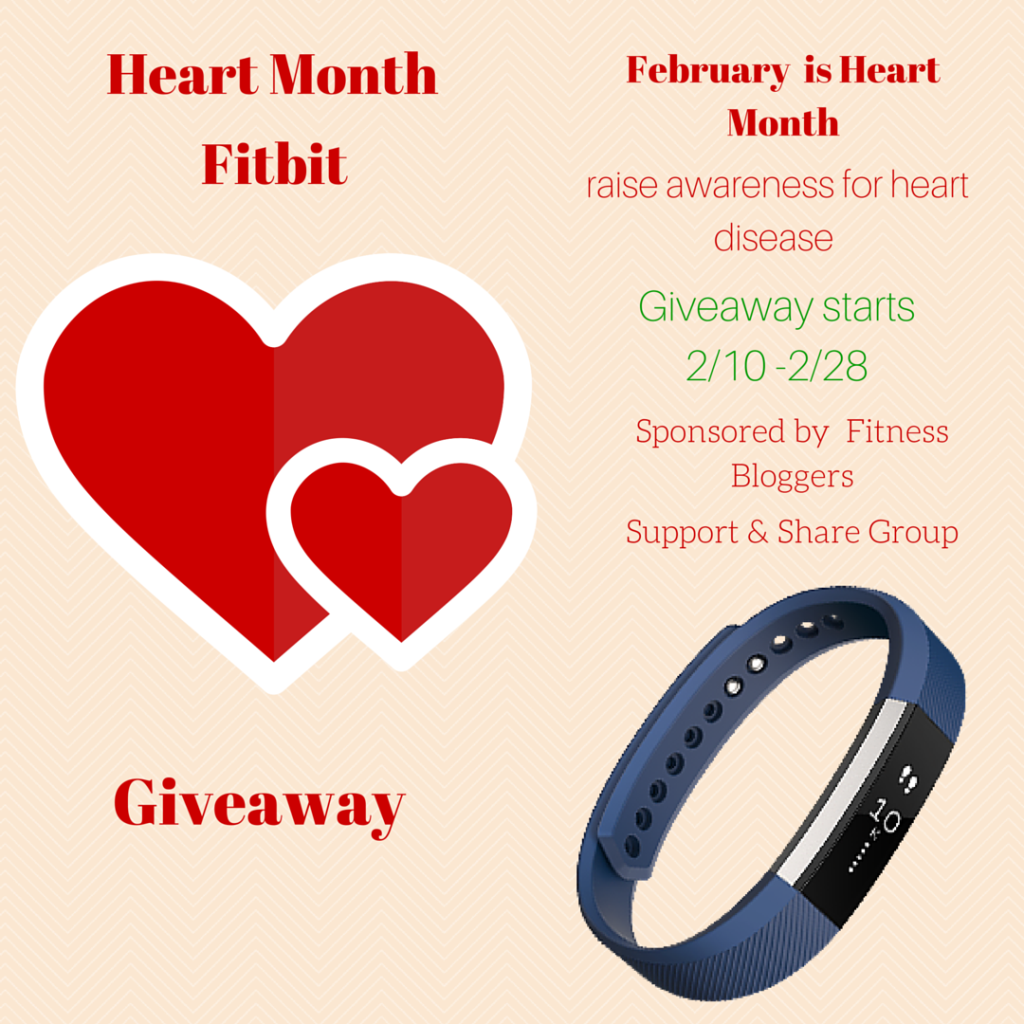Heart Health Month Fitbit Alta giveaway