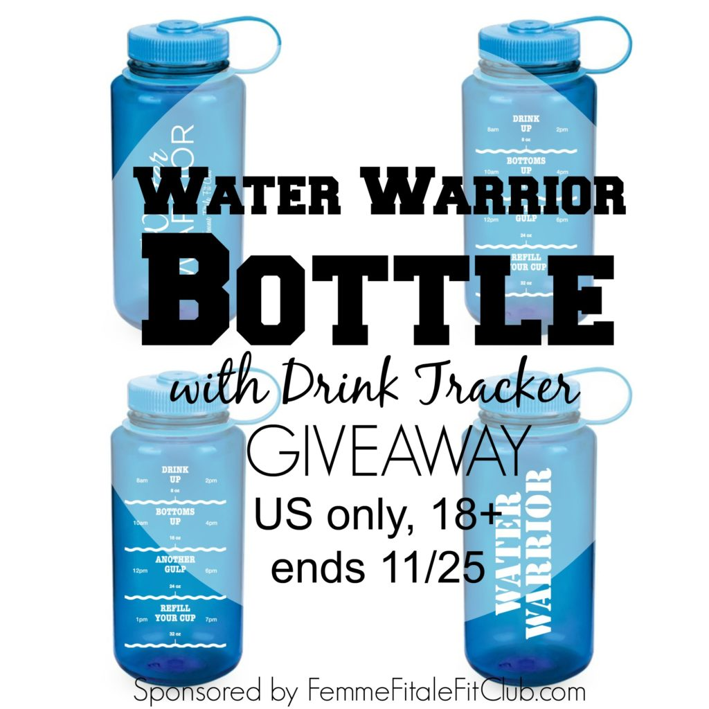 Water Warrior Bottle with Drink Tracker Giveaway