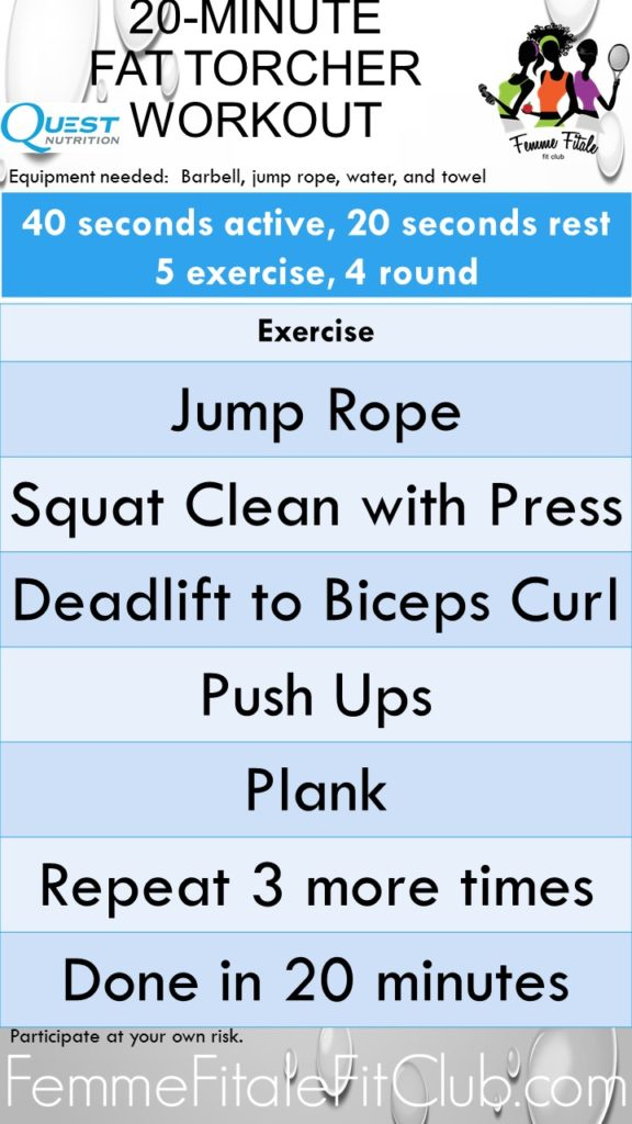 20-Minute Fat Torcher Workout 2