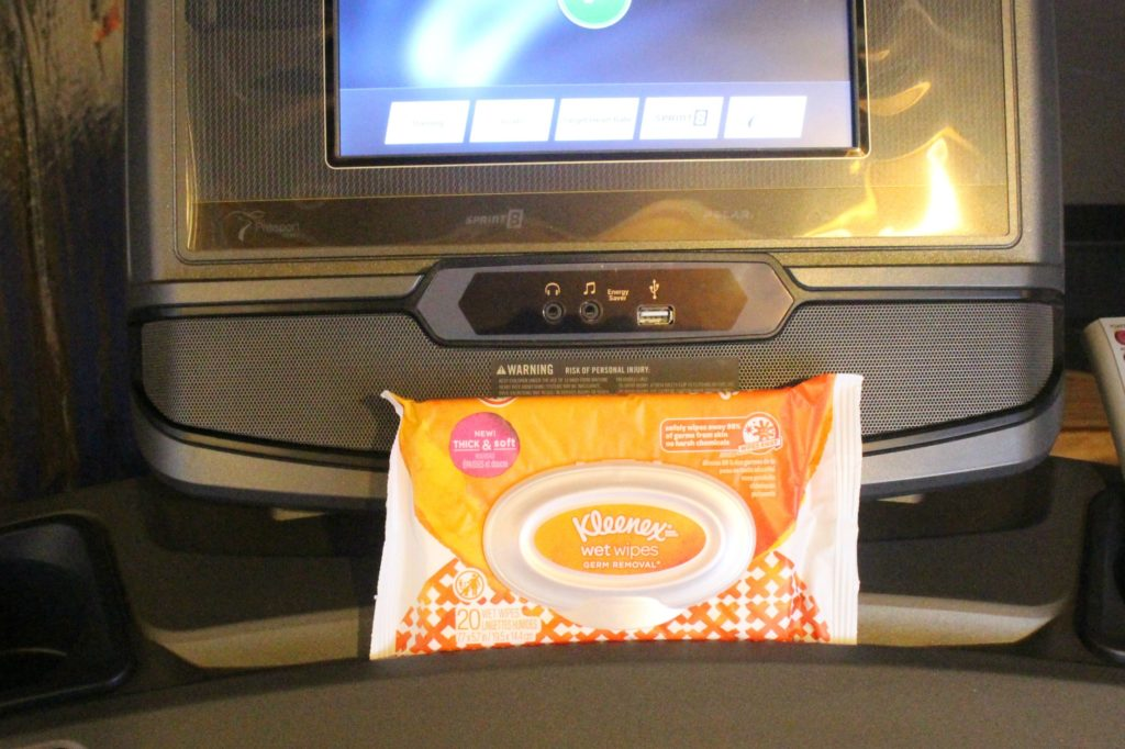 Kleenex Wet Wipes at the Gym